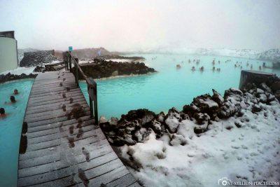 Saltwater lake and thermal bath