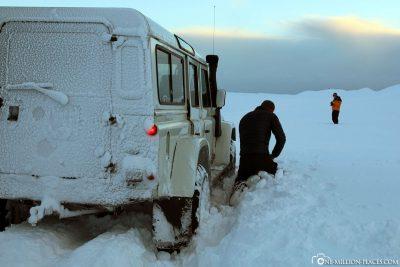 Da hilft nur Schneeschippen