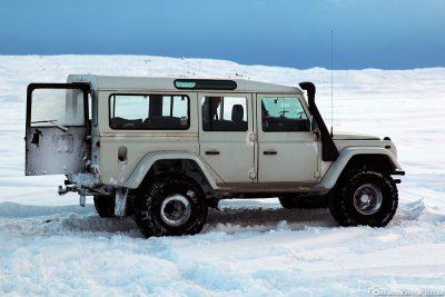 Unser Jeep für die Eishöhlentour