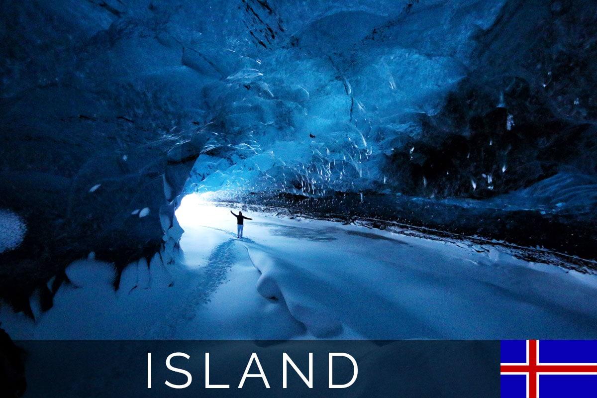 Titelbild, Eishöhlen des Vatnajökull, Island, Skaftafell-Nationalpark, Ice Cave Tour, Winter, Reisebericht