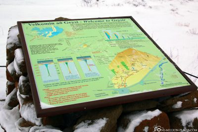 The information board at geyser Strokkur