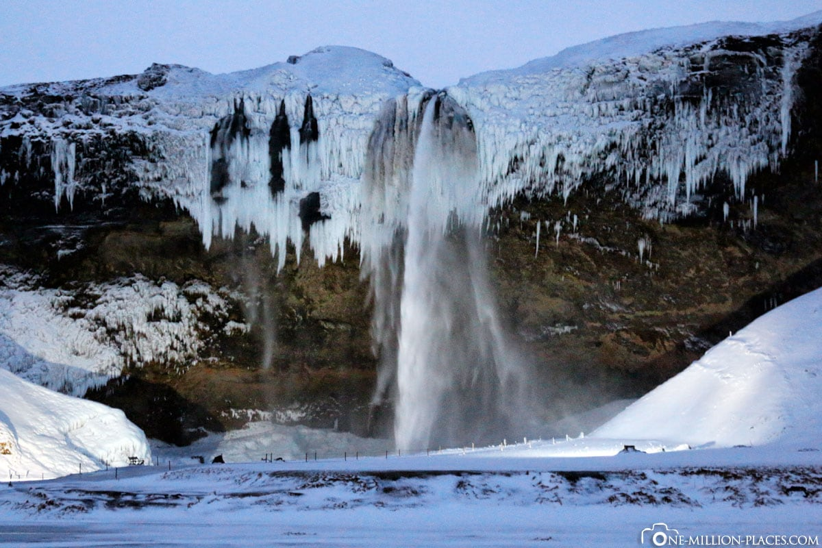 Seljalandsfoss Waterfall, Golden Cyrcle, Iceland, On Your Own, Car Tour, Winter, Travel Report
