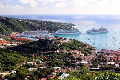 View of the port of Saint Thomas
