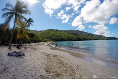 The beach of Magens Bay