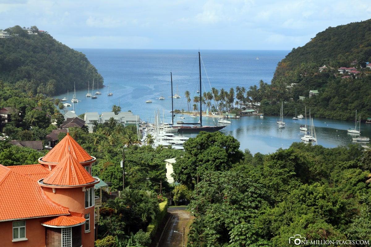 Marigot Bay, St. Lucia, Karibik, Inselrundfahrt, Carnival Valor, Reisebericht