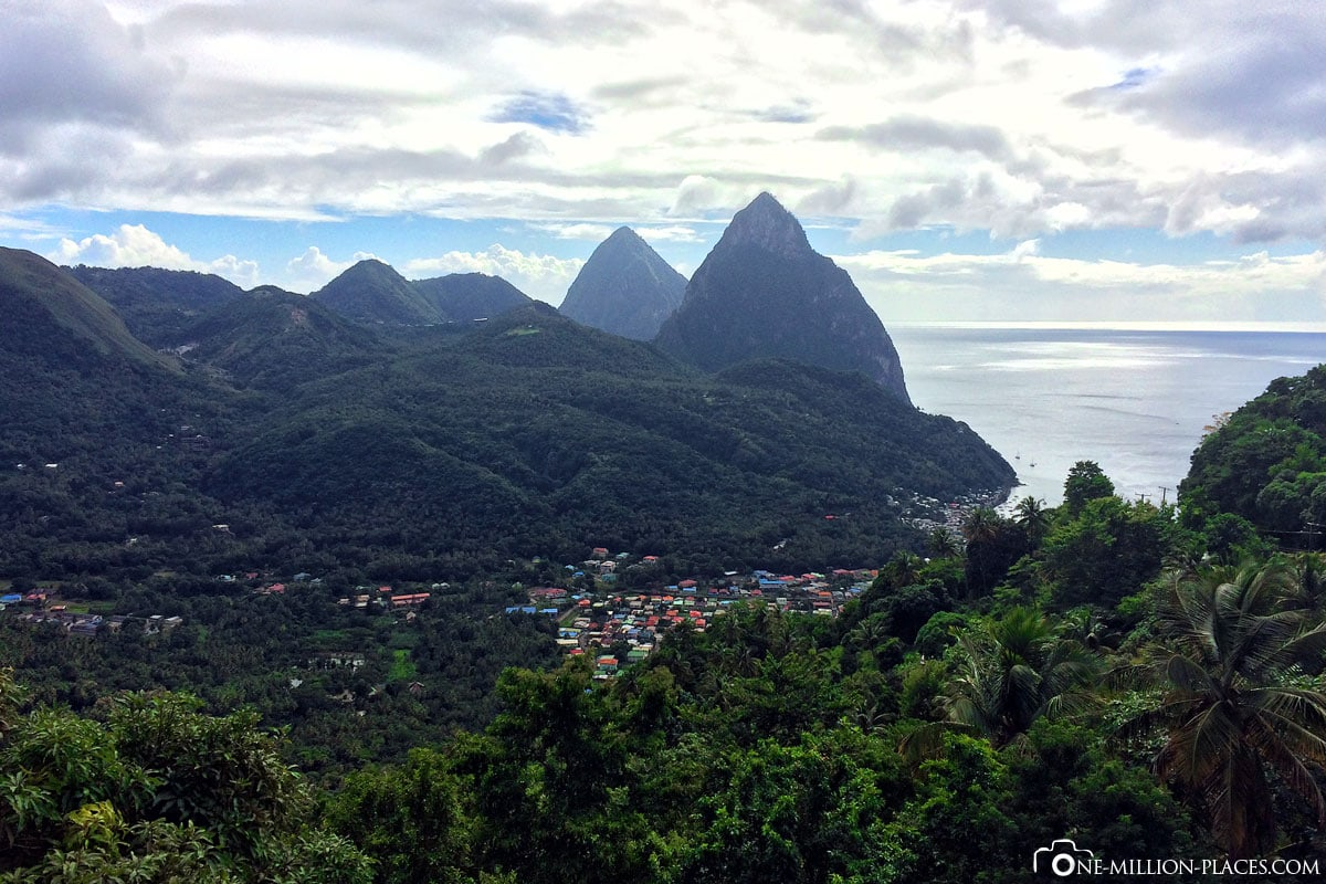Pitons, St. Lucia, Karibik, Inselrundfahrt, Carnival Valor, Reisebericht