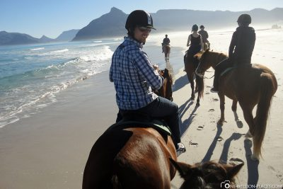 Riding on the beach in South Africa