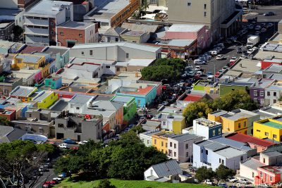 View of the Bo-Kaap district in Cape Town
