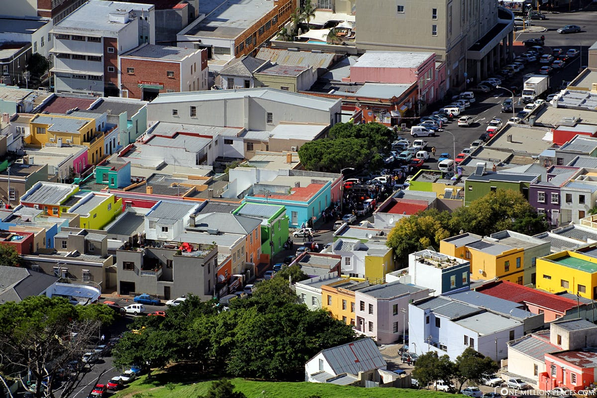 Luftaufnahme, Bo Kaap, Bunte Häuser, Kapstadt, Südafrika, Reisebericht