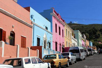 Die bunten Häuser im Stadtviertel Bo-Kaap