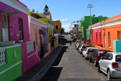 Die bunten Häuser von Bo-Kaap