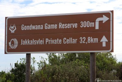 The way to the Gondwana Game Reserve