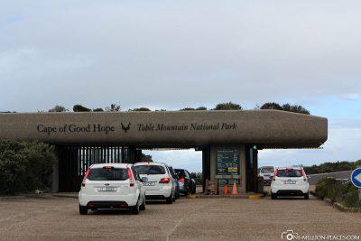 Das Eingangsgate zum Nationalpark Tafelberg