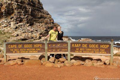 Das berühmte Schild am Kap