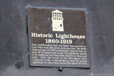 Infoschild Historic Lighthouse