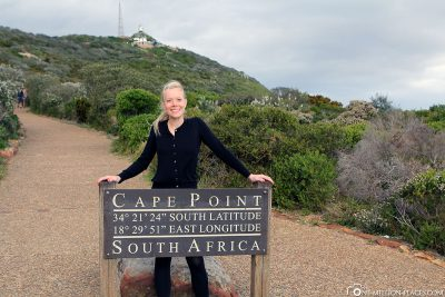 The way to Cape Point Lighthouse