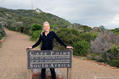 Der Weg zum Cape Point Lighthouse