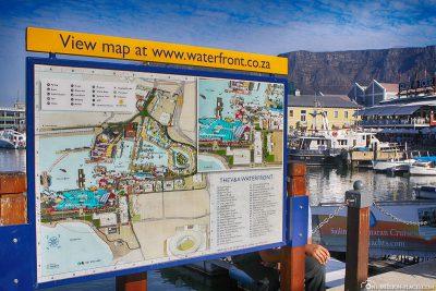 Karte der Waterfront in Kapstadt