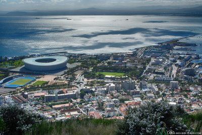 View of Cape Town, the Olympic Stadium