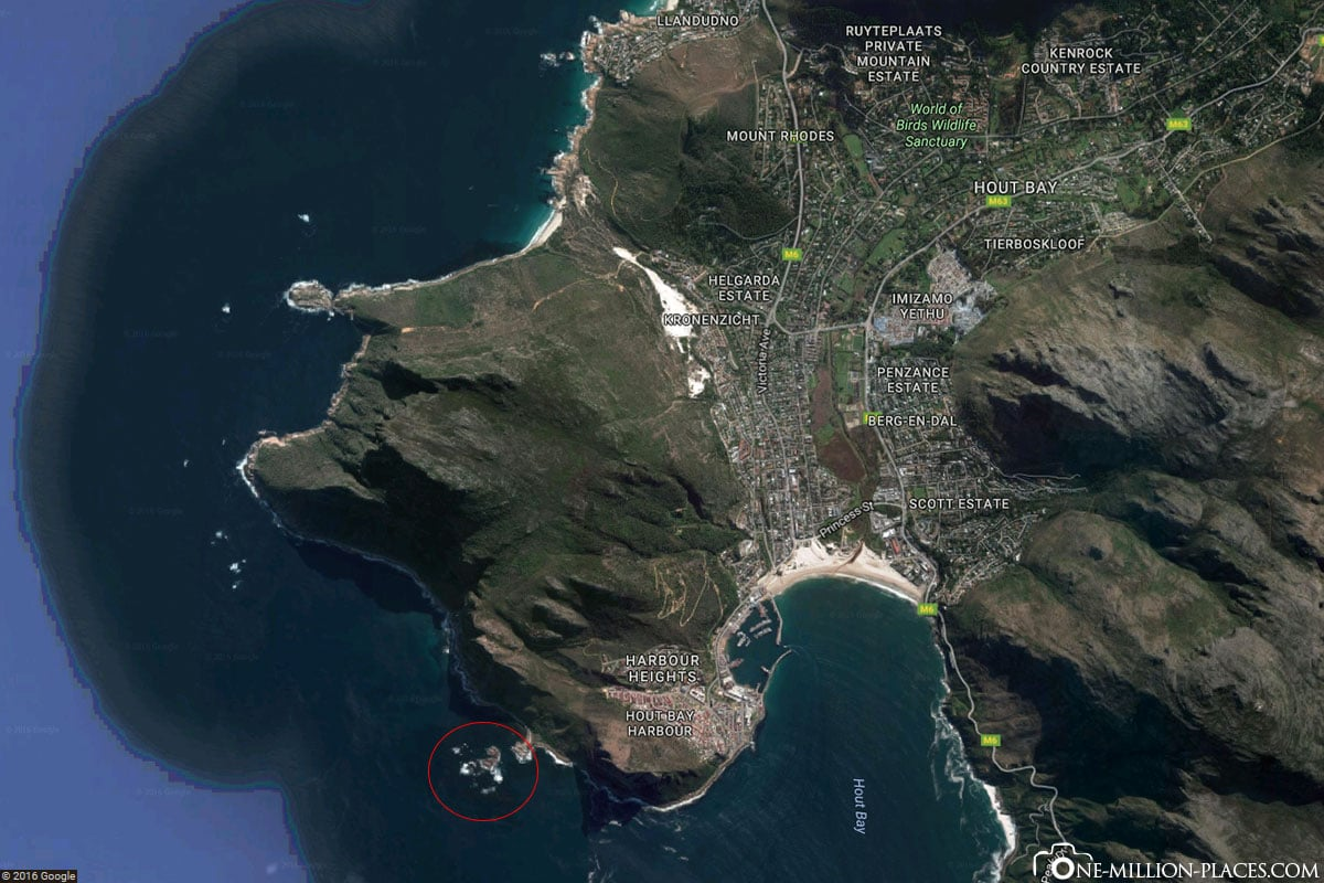 Map, Swimming with Sea Lions, Hout Bay, South Africa, Seal Snorkeling, Africa, Travelreport, On Your Own