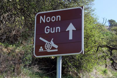 Way to the Noon Gun in Cape Town