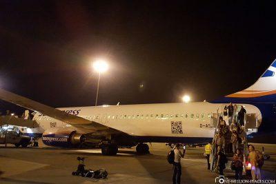 Unser Flug nach Marsa Alam
