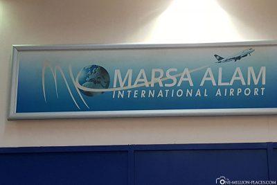 Our flight to Marsa Alam