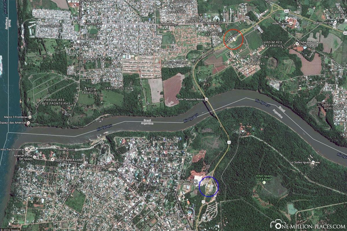Grenze, Foz do Iguaçu, Puerto Iguazú, Wasserfälle, Auf eigene Faust, Reisebericht