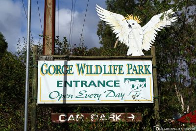The entrance to Gorge Wildlife Park