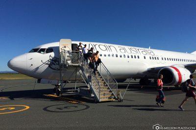 Unser Flug mit Virgin Airlines