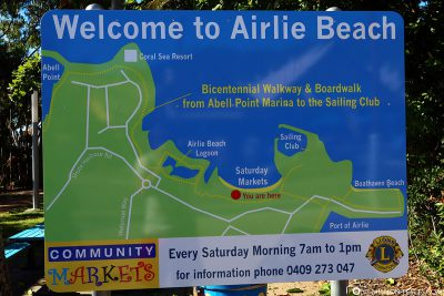 A map of Airlie Beach