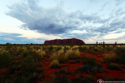 The Ayers Rock in the early morning