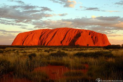 The Ayers Rock at sunset