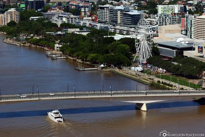 View of the South Bank Parklands & the Ferris Wheel