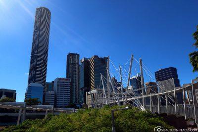 Der Blick auf die Skyline von Brisbane