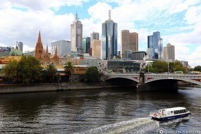 Die Skyline von Melbourne
