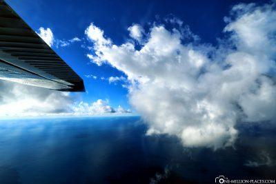 Unser Flug durch die Wolken