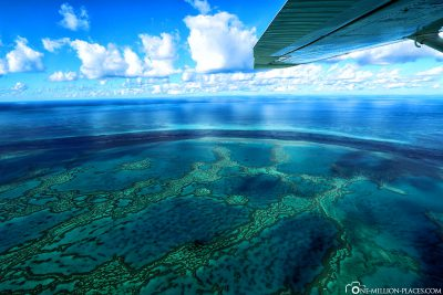 Flight over the Great Barrier Reef