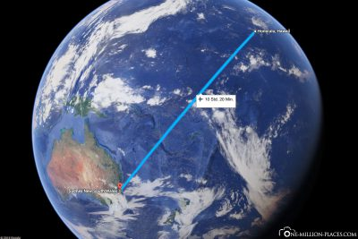 Unser Flug von Hawaii nach Australien