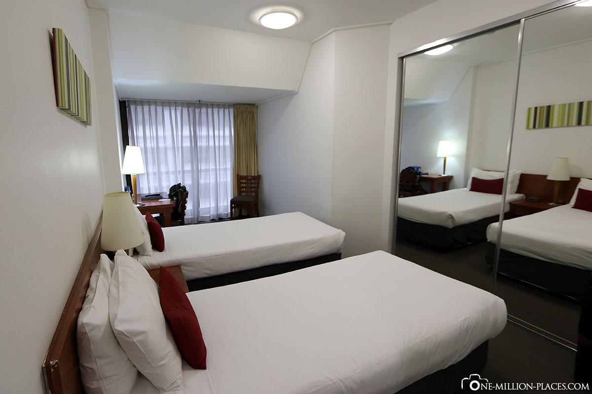 Unser Zimmer im Y Hotel Hyde Park