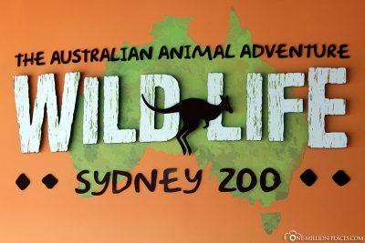 Eingang zum Wild Life Zoo in Sydney