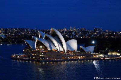 Das Opernhaus in der Nacht