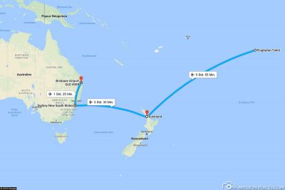 Our current flight route