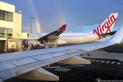 2 rainbows at Sydney airport