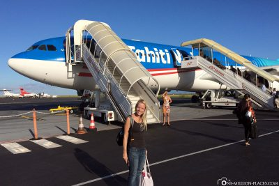 Departure with Air Tahiti Nui in Papeete