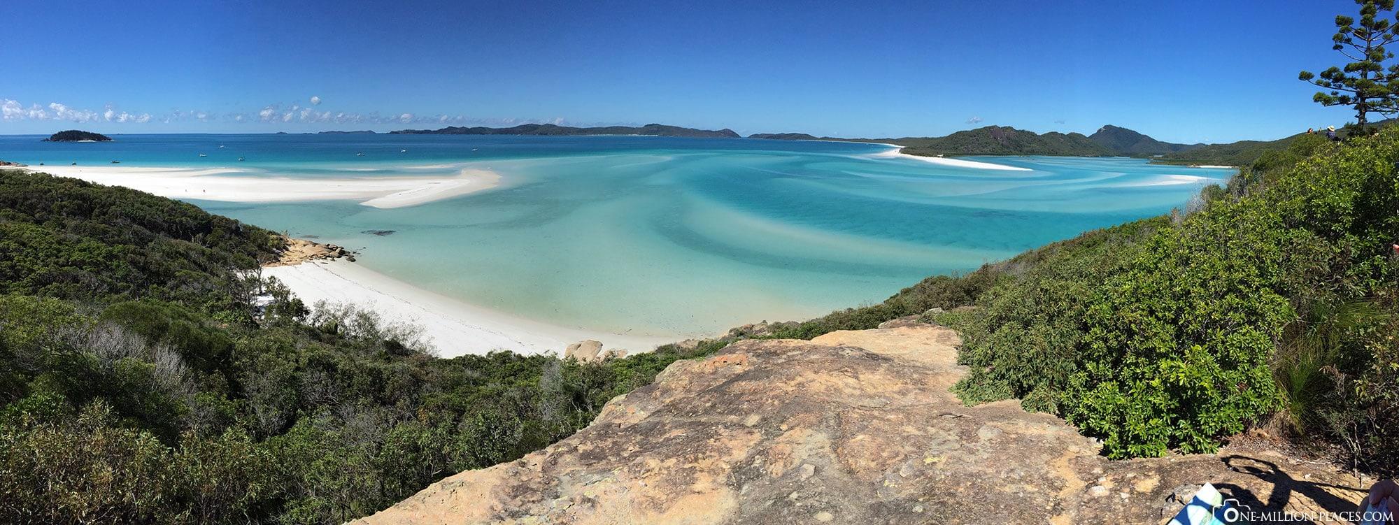 Panorama, Whitsunday Island, Whitsunday Islands National Park, Airlie Beach, Tour Ocean Rafting, Australien, Bundesstaat Queensland, Reisebericht