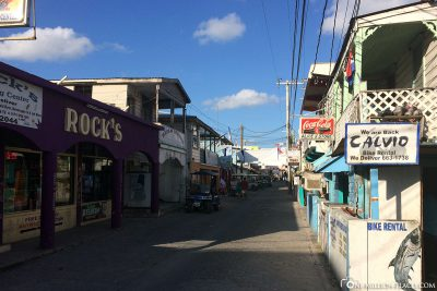The small city center of San Pedro