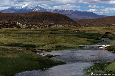 The way through the beautiful highlands in Bolivia