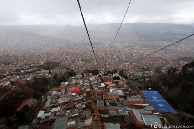 The cable car in La Paz