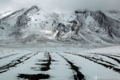 Schneebedekte Landschaft